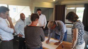 coaches overleg met van Gelder Liander en Cohezy Amsterdam